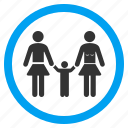 child, kid, lesbi family, men, parents, people, user group icon