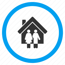 family, home, house, people, property owners, real estate, residential icon