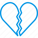 heart, home, people, family, broken icon