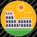 amphitheatre, colosseum, landmark, monument, roman colosseum icon