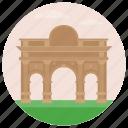 landmark, nonclassical monument, puerta de alcalá, spain arch, world famous icon