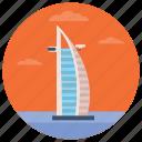 burj al arab, dubai landmark, dubai tower, monument, uae landmark icon