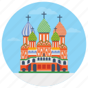 monuments, moscow cathedral, russian cathedral, saint basil's cathedral, world famous icon