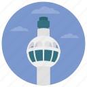 famous places, landmark, monument, stratosphere tower, us tower icon
