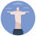 brazil, christ redeemer, christ the redeemer, jesus christ, statue icon