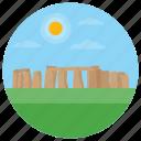 england monuments, prehistoric monument, standing stones, stonehenge, wiltshire england icon