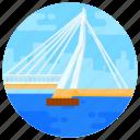 overpass, footbridge, flyover, erasmusbrug, bridge