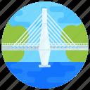 overpass, footbridge, flyover, bridge, atlantic bridge