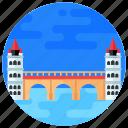 overpass, footbridge, flyover, bridge, medieval arch bridge