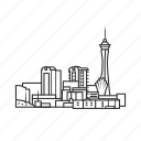 building, city, famous city, famous skyline, las vegas, nevada, skyline icon