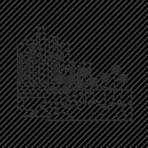 building, california, city, famous city, famous skyline, los angeles, skyline icon