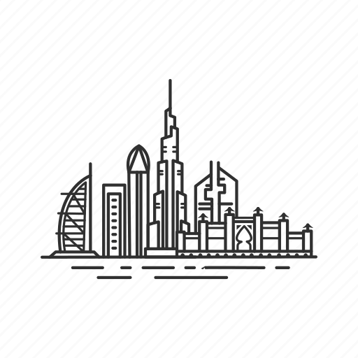 building, city, dubai, famous city, famous skyline, skyline, united arab emirates icon