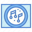 music, musical, note, player, song icon