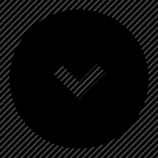arrow, chevron, circle, direction, down, filled icon