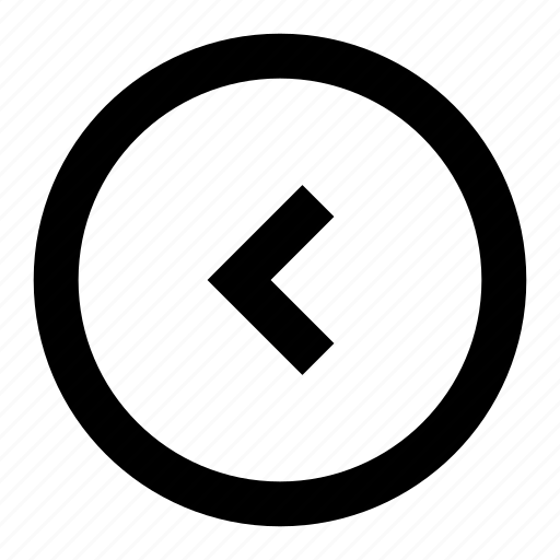 arrow, chevron, circle, direction, left icon