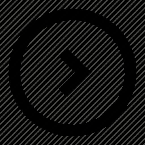 arrow, chevron, circle, direction, right icon