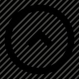 arrow, chevron, circle, direction, up icon