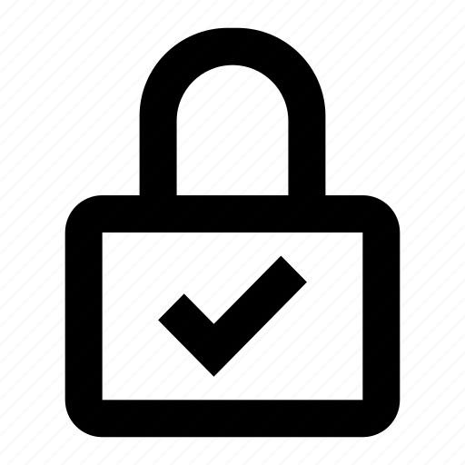 check, lock, locked, privacy, private, protect, protection icon