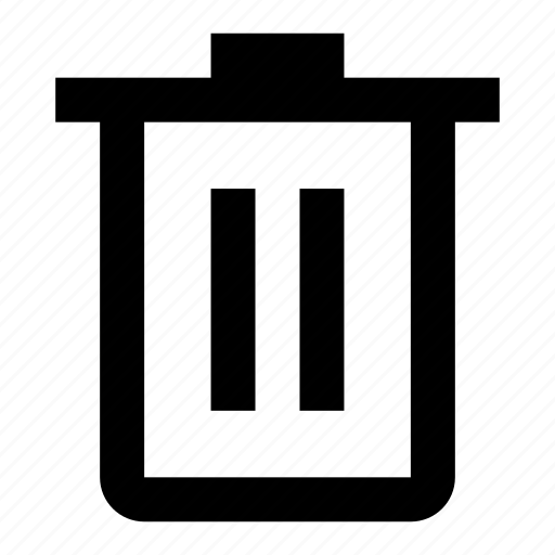 bin, delete, empty, garbage, remove, trash icon
