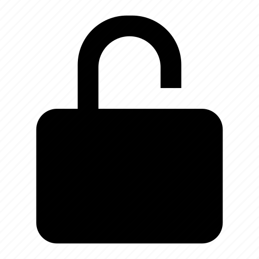 locked, privacy, protect, safety, secure, security, unlock icon