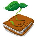 green, organic, plant, wallet icon