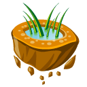flying, grass icon