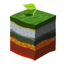 earth, grass, layers, soil icon