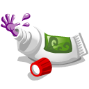 monster, toothpaste, tube icon