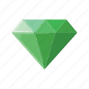 diamond, fantasy, game, green, hero, rpg, treasure