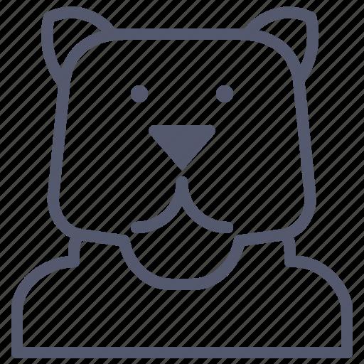bear, human, metamorphic, transform icon