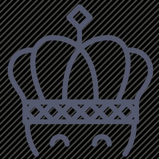 crown, king, leader, war icon