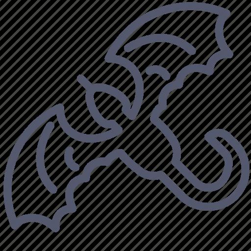 character, dragon, evil icon