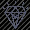 diamond, jewel, sapphire icon