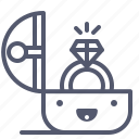 gift, jewel, marriage, ring, wedding icon