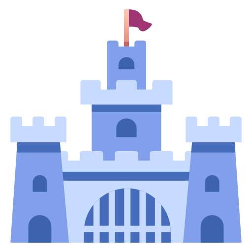 castle, fantasy, fortress, kingdom, medieval, rpg, stronghold icon