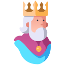 cartoon, crown, fantasy, king, medieval, prince, royal icon