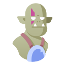 creature, fantasy, monster, ogre, orc, troll icon