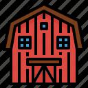 barn, buildings, farm, gardening icon