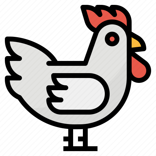 animal, chicken, farm, rooster icon