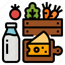basket, farm, meat, products icon