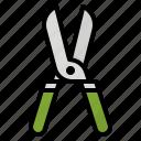 scissors, pruning, shears, gardening