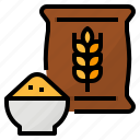 barley, branch, food, wheat icon