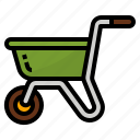 cart, construction, trolley, wheelbarrow icon