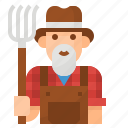 farmer, job, man, occupation, profession icon