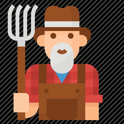 farmer, job, man, occupation, profession icon