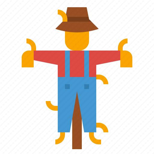 character, farming, rural, scarecrow icon