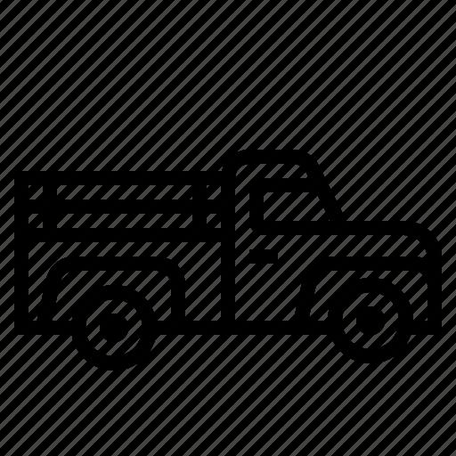 pickup, transport, truck, vehicle icon