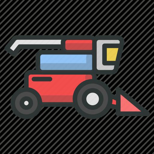 farm, lawn, mower icon