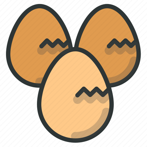 Cracked, egg, farm icon - Download on Iconfinder