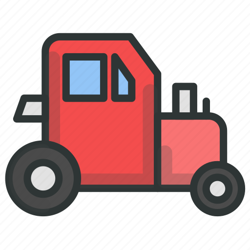 farm, plow, tractor, vehicle icon